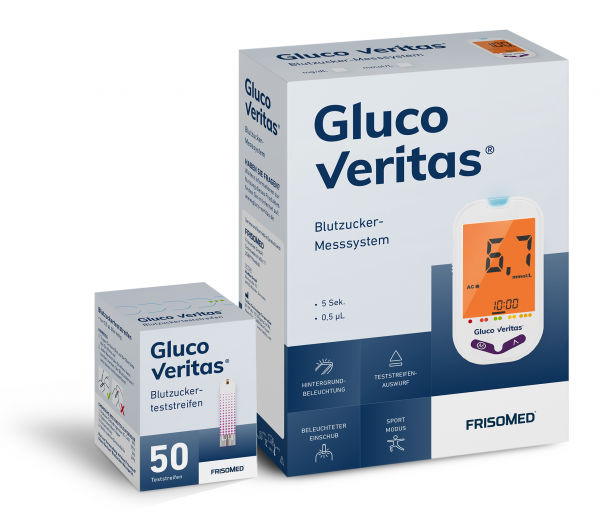 Blutzucker-Messgerät Starterset (mmol/L) inklusive 50 Teststreifen