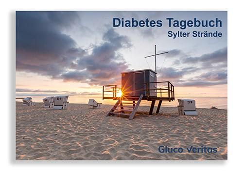 """Diabetes Tagebuch """"Sylter Strände"""" 32 Seiten im Postkartenformat"""